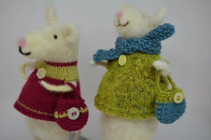 Large needle felted mice £20 (currently sold out, orders taken for January)