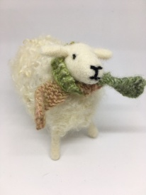 Needlefelted Sheep and scarf £30