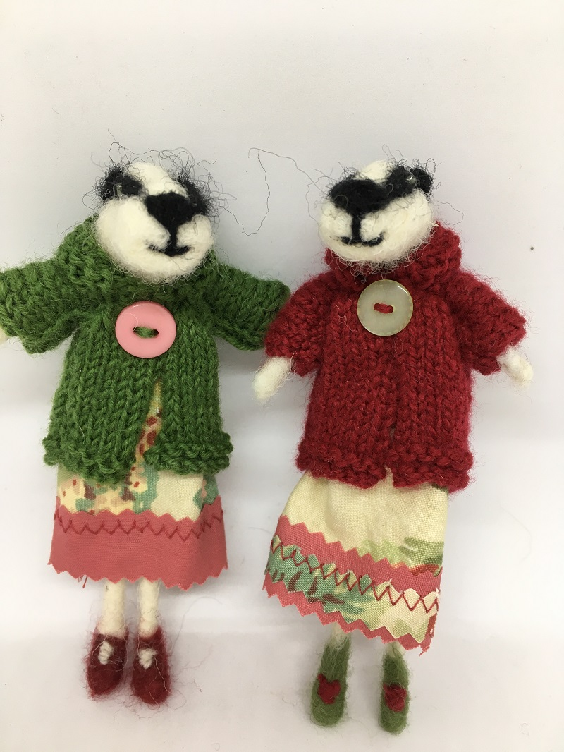 Badgers in dresses