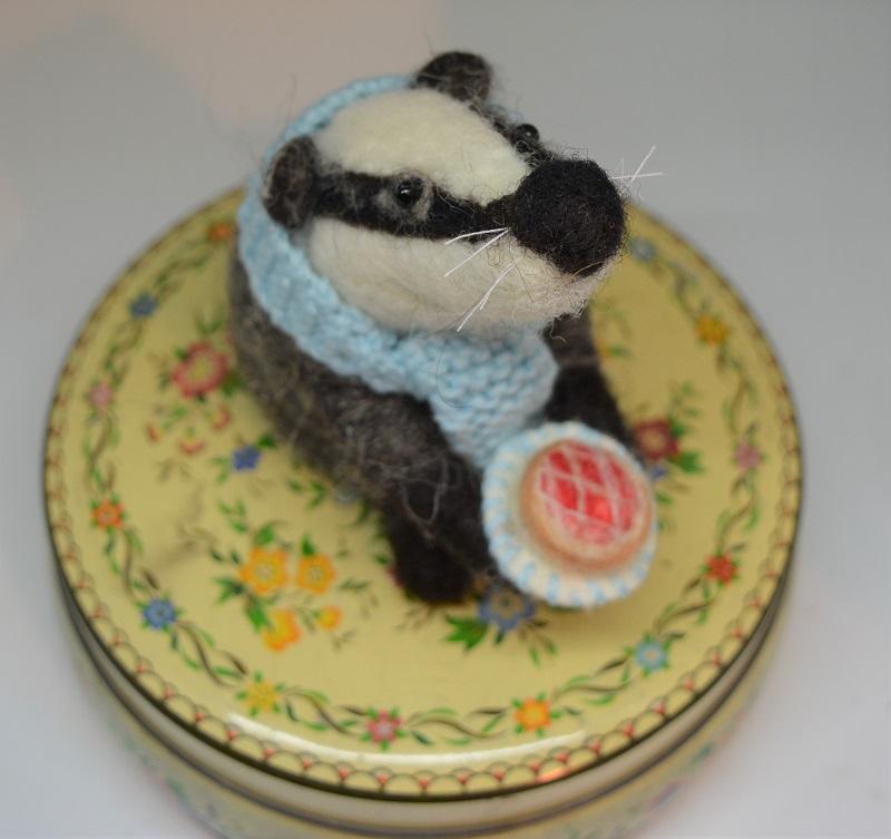 Badger with Cherry tart