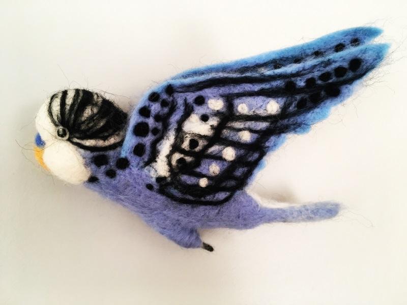 Blue budgie by JAB