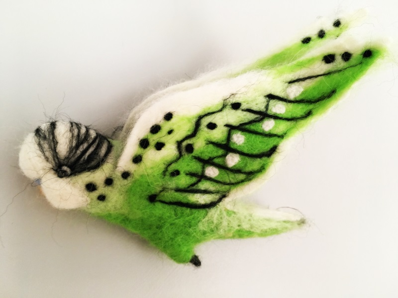Green budgie by JAB