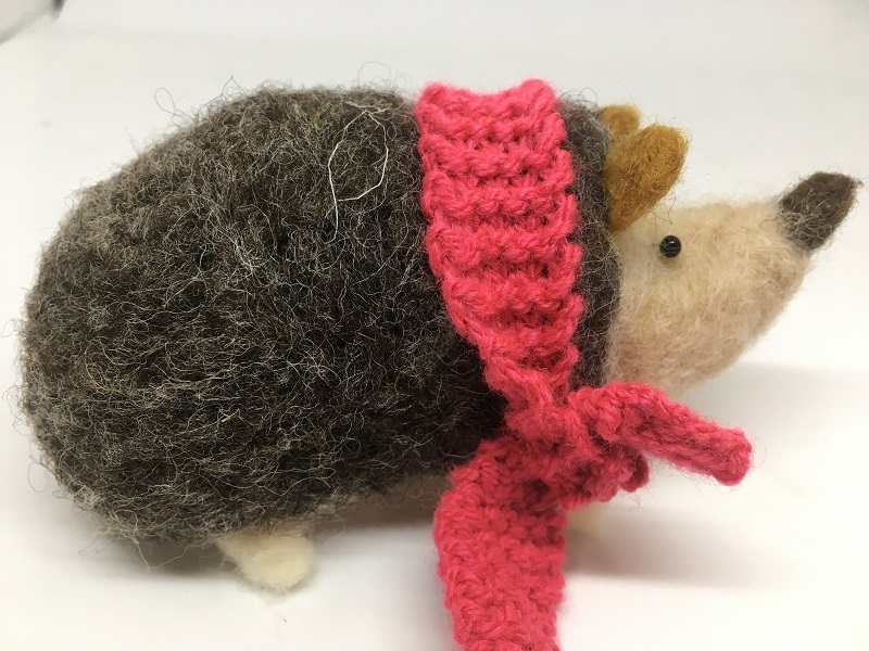 hedgehog-and-red-scarf